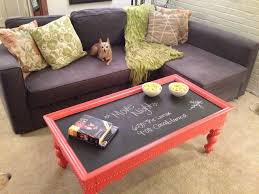 makeover a thrift store coffee table with chalkboard paint chalk paint coffee table