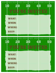 football party invitation template printable paper trail football invitations printable two per page