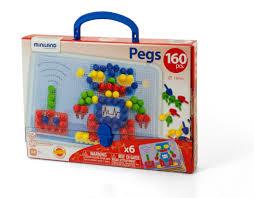 <b>Мозаика Pegs</b> 15 мм в чемоданчике, <b>Miniland</b> educational купить в ...