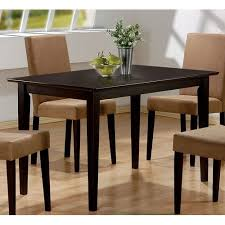 dining room tables chairs square: amazoncom coaster hyde rectangular casual dining leg table in cappuccino table only tables