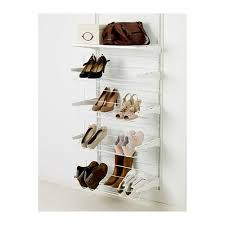 shoe organiser algot white algot white wall mounted storage solution