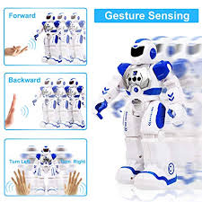 Gifts for Boys Girls Toddlers Remote Control <b>Robot Toys</b> with LED ...