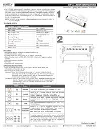 For ConTech Lighting RGB Controller: TLPRGBRF   manualzz.com