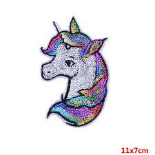 2019 <b>Pulaqi</b> Unicorn Sequin <b>Patch</b> Iron On <b>Cartoon Patches</b> ...