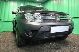 Защита радиатора Renault Duster 2015- black низ <b>OPTIMAL</b> ...