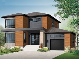Contemporary House Plans   Modern Two Story Home Plan   H     Contemporary House  H