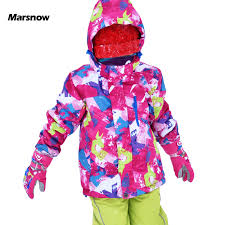 Marsnow <b>Children Ski Jacket Boys</b> Girls Warm Winter Skiing ...