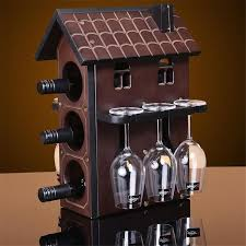 High Quality <b>Wooden Red Wine Rack</b> 6 Bottles Holder 12 cups ...