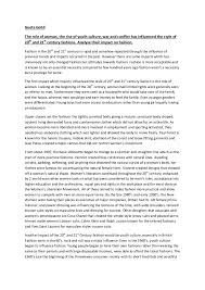 essay on influence of th and st fashion geeta gohil the role of woman the rise of youth culture war and conflict
