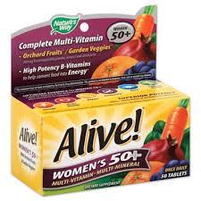 <b>Alive</b>! <b>50</b>-Count Senior Women's <b>Energy Multivitamin 50</b> + | Bed ...