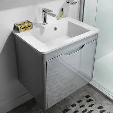 rhodes pursuit mm bathroom vanity unit: bauhaus solo wall hung vanity unit with ceramic basin sosrw pv drench