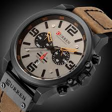 <b>Luxury Brand Men Digital</b> Leather Sports Watches Men'S Army ...