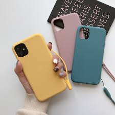 Silicone <b>Solid Color</b> Case for iPhone XS MAX XR X <b>Candy Color</b> ...