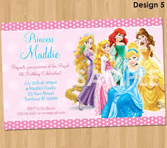 princess invitation disney princess invitation birthday 128270zoom