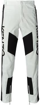 Бело-черные <b>брюки чинос с геометрическим</b> рисунком от Kenzo ...