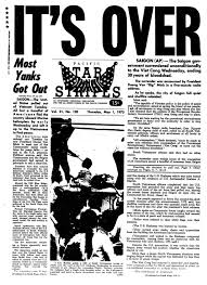 vietnam the loss of american innocence vietnam at stripes the pacific front page of the 1 1975 edition of stars and stripes