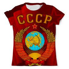 Футболка с полной запечаткой (мужская) <b>Герб СССР</b> #936441 от ...