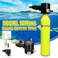 Agienb <b>Set</b> Tabung Oksigen <b>Mini Portable</b> 0.5l Untuk Scuba Diving ...