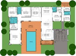 Nice House Plans With Pools   Pool House Plans With Courtyard    Nice House Plans With Pools   Pool House Plans With Courtyard