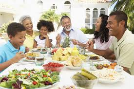 Image result for family eating dinner