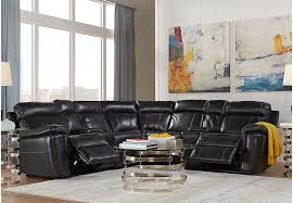 hudson square black leather 10 pc reclining sectional living room from furniture black leather living room