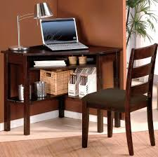 cherry finish home office modern corner desk chair set home office furniture cherry finished