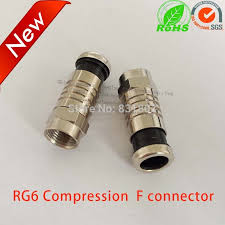 RG6 Coax <b>compression</b> cable f connector RG6 waterproof f type ...