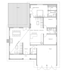 Small house plan CH in craftsman style   three bedrooms    JPG small houses    CH  F   house plan jpg