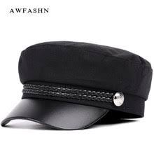 <b>cap leather military</b>