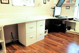 build a large surface home office desk from inexpensive 34 mdf wood blank630x20 build office desk