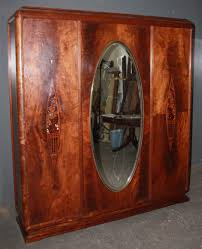 art deco crotch mahogany armoire wardrobe closet m3631 you are bidding an art deco crotch mahogany armoire wardrobe closet this is an amazing piece of antique mahogany armoire