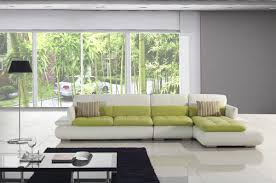 home furniture design green leather sofa living room ideas chic feng shui living room