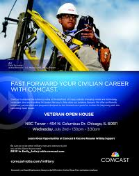 comcast holds job fair and career open house for military veterans
