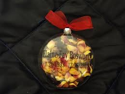 Christmas <b>ornament</b> using dried <b>flowers</b> from the funeral service for ...