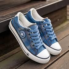 2017 <b>LAISUMK</b> Women <b>Casual</b> Shoes Canvas New Denim Trainers ...