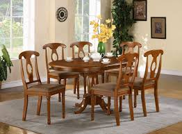 Oval Kitchen Table  Contours Dining Table Chestnut Drop Leaf - Dining room tables oval