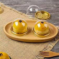 Gold Black <b>Clear Plastic</b> Mini Cupcake Boxes <b>50Pcs</b>/<b>Set Cake</b> ...