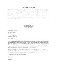 cold calling cover letter template cold calling cover letter