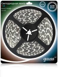 <b>Gauss Лента LED 5050/60</b>-<b>SMD</b> 14.4W 12V DC RGB (блистер 5м ...