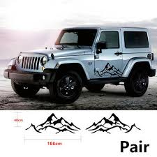 <b>2X Mountain Graphic Car</b> Fender Side Decal For Jeep Wrangler ...