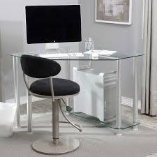 full size of desk small modern corner computer desk clear tempered glass panels metal frame black glass top corner