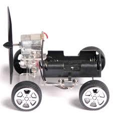 1 Set DIY Puzzle <b>Mini Wind Car 130</b> Brush Motor Robot For Arduino ...