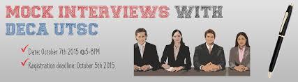 deca utsc mock interviews mock interview