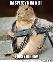IM SPEEDY N IM A L!!... - Militant Squirrel Meme Generator Captionator via Relatably.com