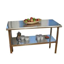 ampamp prep table: stainless steel top food safe prep table utility work bench with adjustable shelf loluxe