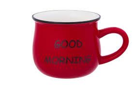 <b>Кружка</b> 400 мл 13х9,5х8 см <b>Elan Gallery Доброе</b> утро красная ...