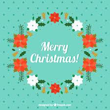 Free Vector | <b>Floral merry christmas garland</b>