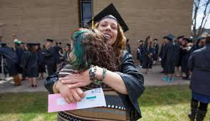 more than graduate from fort lewis college on saturday fort lewis college graduating senior catlin cox left is congratulated by her sister lacey cox moments before the graduating class entered whalen