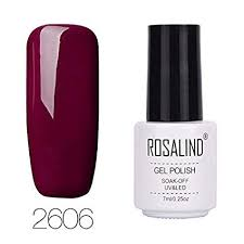 Buy <b>Rosalind</b> 7ml <b>Red</b> Soak off Nail <b>Gel Polish</b> UV Led Lamp Lucky ...