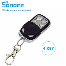 <b>Sonoff</b> Smart Home <b>Wireless</b> RF Remote 433mHz ABCD <b>4</b> Channel ...